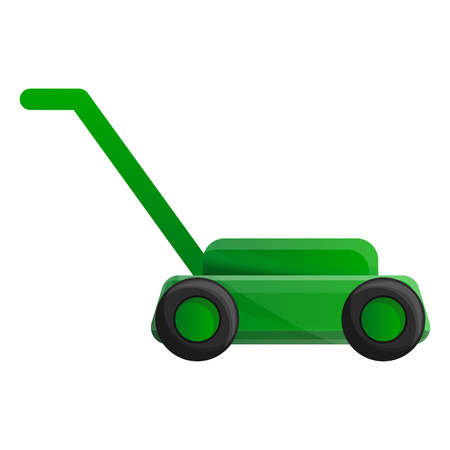 Lawn mower icon. Cartoon of lawn mower vector icon for web design isolated on white background