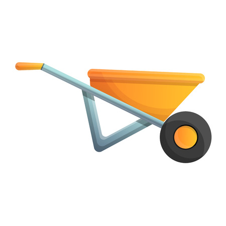 Plastic wheelbarrow icon. Cartoon of plastic wheelbarrow vector icon for web design isolated on white background Zdjęcie Seryjne - 124966125