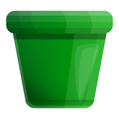 Empty plant pot icon. Cartoon of empty plant pot vector icon for web design isolated on white background