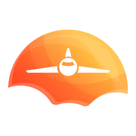 Sunrise air plane icon. Cartoon of sunrise air plane vector icon for web design isolated on white background Zdjęcie Seryjne - 124966130
