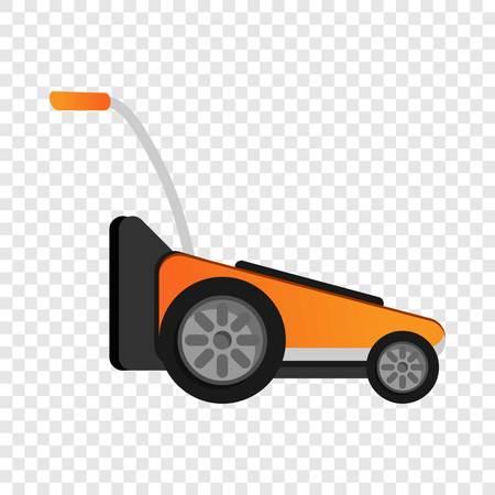 Modern grass cut machine icon. Cartoon of modern grass cut machine vector icon for web design for web design
