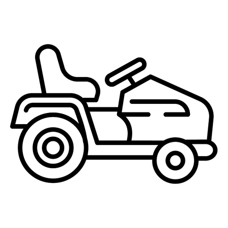 Tractor grass cutter icon. Outline tractor grass cutter vector icon for web design isolated on white background Ilustracja