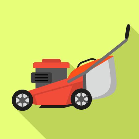 Lawnmower icon. Flat illustration of lawnmower vector icon for web design 일러스트