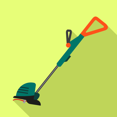 Home grass trimmer icon. Flat illustration of home grass trimmer vector icon for web design