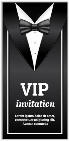 Elegant vip invitation banner. Realistic illustration of elegant vip invitation vector banner for web design