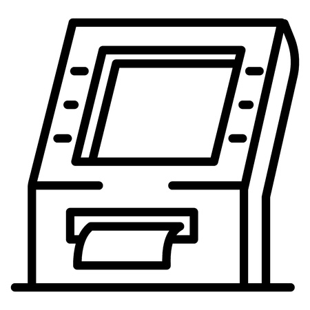 Payment machine icon. Outline payment machine vector icon for web design isolated on white background Ilustración de vector
