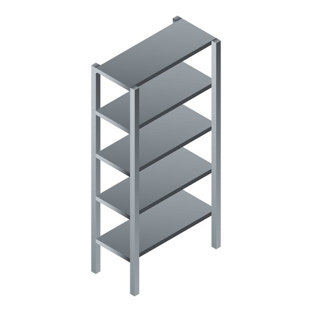 Empty rack icon. Isometric of empty rack vector icon for web design isolated on white background