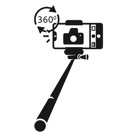 Monopod panorama icon. Simple illustration of monopod panorama vector icon for web design isolated on white background