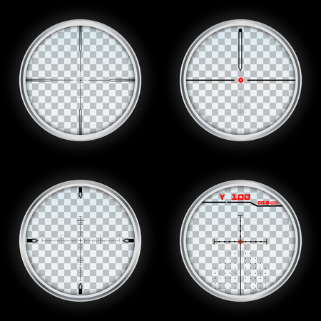 Crosshair icons set. Realistic set of crosshair vector icons for web design