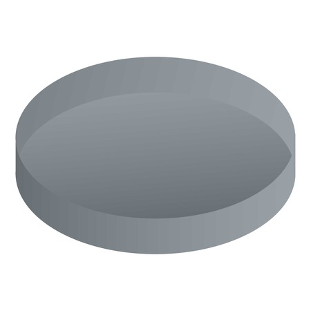 Metal round cover icon. Isometric of metal round cover vector icon for web design isolated on white background