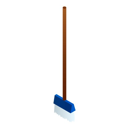 Brush mop icon. Isometric of brush mop vector icon for web design isolated on white background