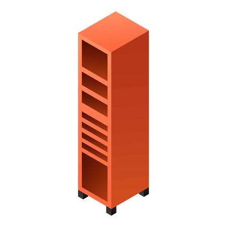 Garage shelf drawer icon. Isometric of garage shelf drawer vector icon for web design isolated on white background