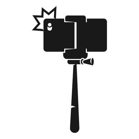 Monopod photo icon. Simple illustration of monopod photo vector icon for web design isolated on white background