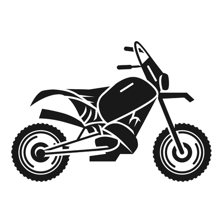 Classic cross bike icon. Simple illustration of classic cross bike vector icon for web design isolated on white background