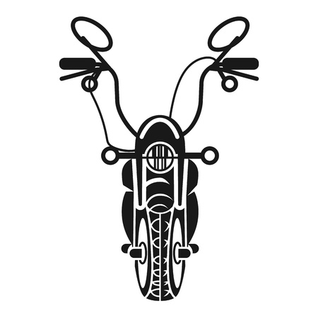 American chopper front view icon. Simple illustration of american chopper front view vector icon for web design isolated on white background