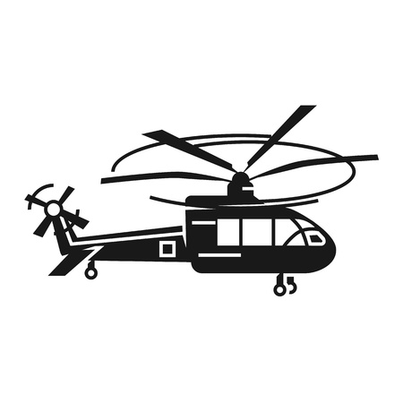 Passenger helicopter icon. Simple illustration of passenger helicopter vector icon for web design isolated on white background