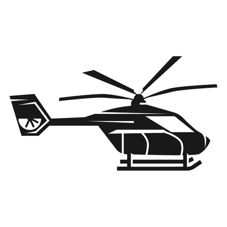 Police helicopter icon. Simple illustration of police helicopter vector icon for web design isolated on white background