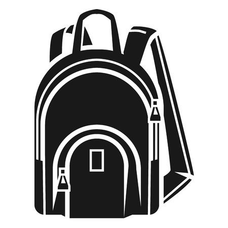 Student backpack icon. Simple illustration of student backpack vector icon for web design isolated on white background