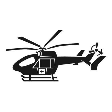 Medical helicopter icon. Simple illustration of medical helicopter vector icon for web design isolated on white background Illustration