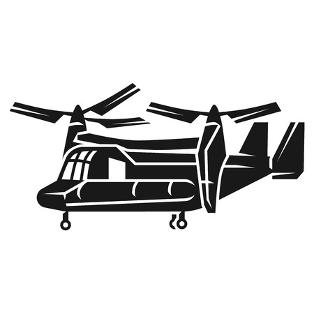 Rotary wing helicopter icon. Simple illustration of rotary wing helicopter vector icon for web design isolated on white background