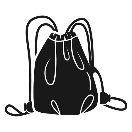Backpack for shoes icon. Simple illustration of backpack for shoes vector icon for web design isolated on white background