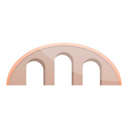 Round bridge icon. Cartoon of round bridge vector icon for web design isolated on white background