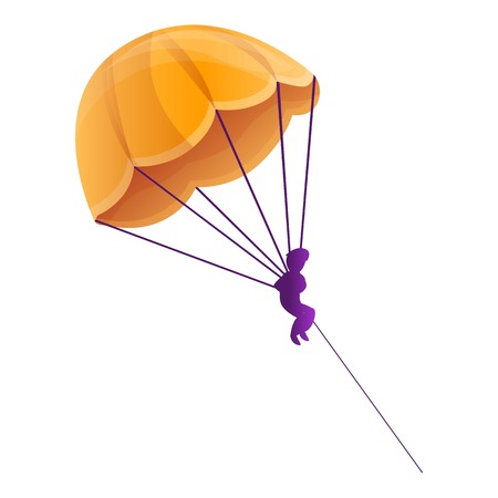 Parasailing icon. Cartoon of parasailing vector icon for web design isolated on white background Иллюстрация
