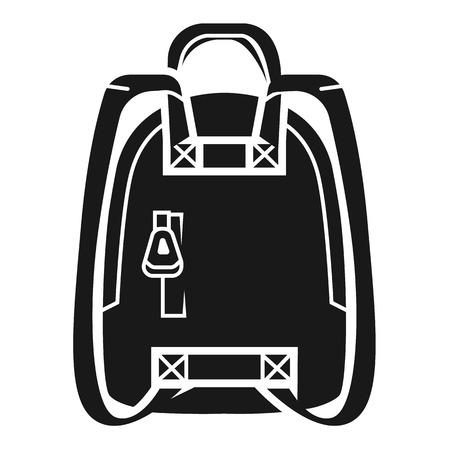 Knapsack icon. Simple illustration of knapsack vector icon for web design isolated on white background