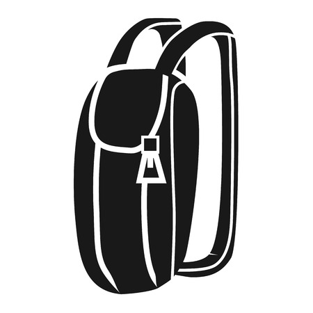 Light backpack icon. Simple illustration of light backpack vector icon for web design isolated on white background