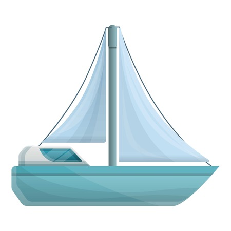 Modern sailboat icon. Cartoon of modern sailboat vector icon for web design isolated on white background