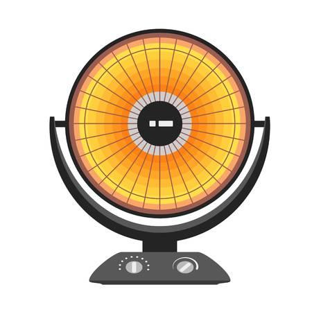 Round heater icon. Flat illustration of round heater vector icon for web design Vektorgrafik