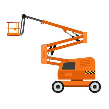 Lift machine icon. Flat illustration of lift machine vector icon for web design