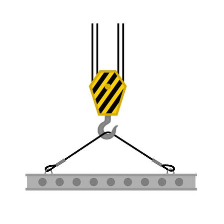 Crane lift beton platform icon. Flat illustration of crane lift beton platform vector icon for web design