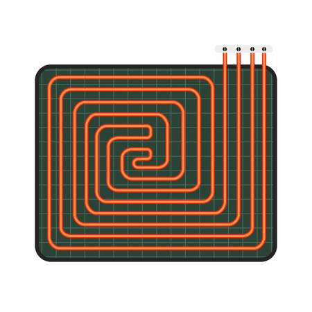 Home floor heater icon. Flat illustration of home floor heater vector icon for web design Vector Illustration