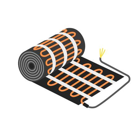 Floor heater equipment icon. Flat illustration of floor heater equipment vector icon for web design