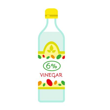 6 percent vinegar icon. Flat illustration of 6 percent vinegar vector icon for web design