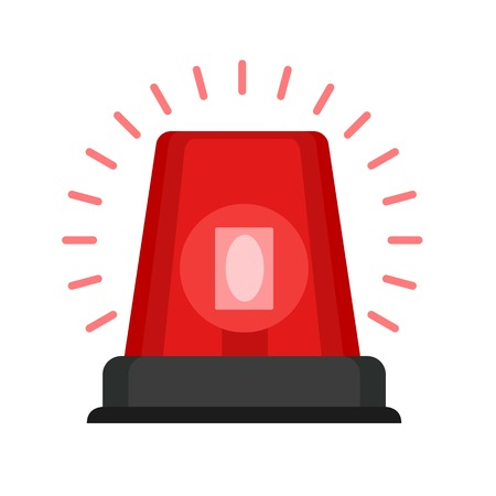 Red flasher icon. Flat illustration of red flasher vector icon for web design