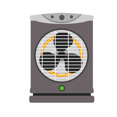 Modern fan heater icon. Flat illustration of modern fan heater vector icon for web design