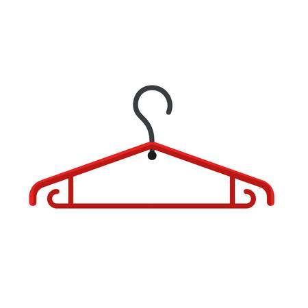 Plastic cloth hanger icon. Flat illustration of plastic cloth hanger vector icon for web design