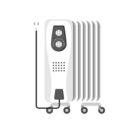 Home heater radiator icon. Flat illustration of home heater radiator vector icon for web design
