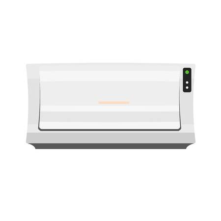Old air conditioner icon. Flat illustration of old air conditioner vector icon for web design Illustration