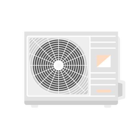 Outdoor conditioner fan icon. Flat illustration of outdoor conditioner fan vector icon for web design
