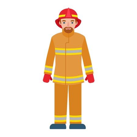 Icono de hombre de bombero. Ilustración plana del icono de vector de hombre bombero para diseño web