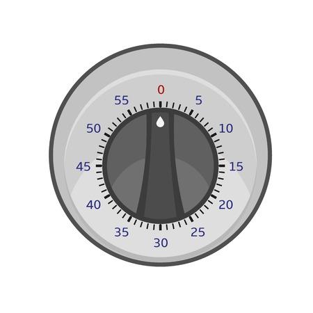 Round kitchen timer icon. Flat illustration of round kitchen timer vector icon for web design