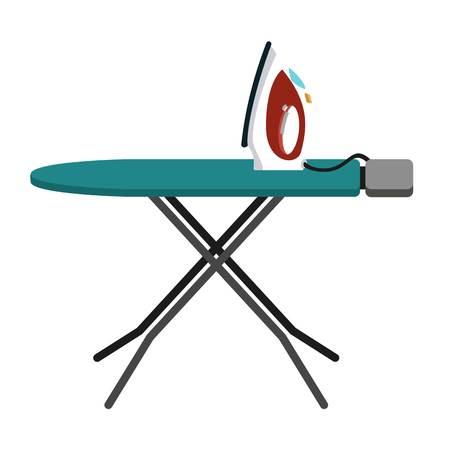 Haus-Bügelbrett-Symbol. Flache Illustration der Vektorikone des Hausbügelbretts für Webdesign