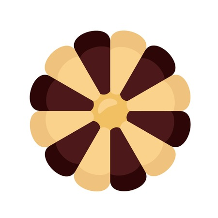 Flower biscuit icon. Flat illustration of flower biscuit vector icon for web design Illustration