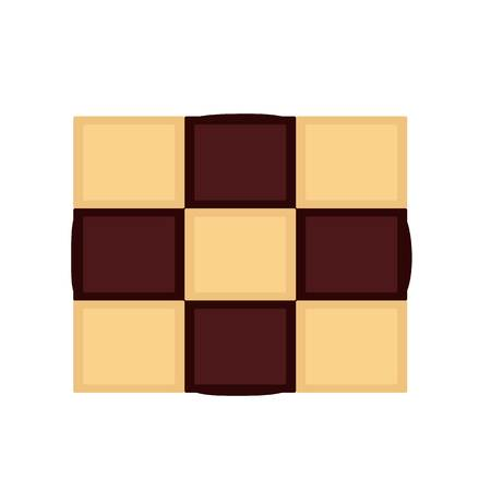 Chess biscuit icon. Flat illustration of chess biscuit vector icon for web design Illustration