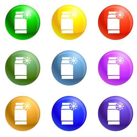 Low density polyethylene icons vector 9 color set isolated on white background for any web design Vektorgrafik