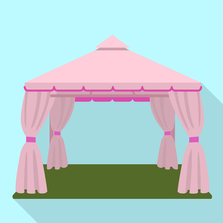 Wedding tent icon. Flat illustration of wedding tent vector icon for web design
