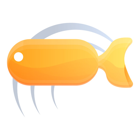Fish oil logo. Cartoon of fish oil vector logo for web design isolated on white background Çizim